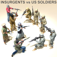 3ds max arab insurgents soldiers