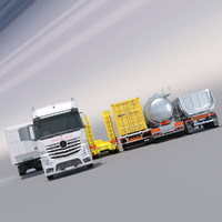 Mercedes Actros MP4 GigaSpace with 5 semitrailers