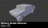 military humvee untextured 3d 3ds