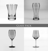 3d model of glass pack