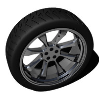 tire alloy wheel rim 3d model