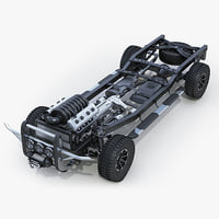 3d suv chassis model