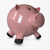3d pottery pig model
