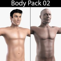 3d body pack 02 african male