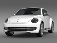 beetle fender edition 2012 3d model