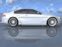 3d model luxury sedan bmw car