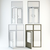 entrance pvc doors 3ds