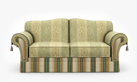 3d classic couch model