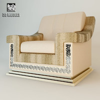 armchair florence chair 3d model