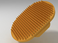 3d rubber grooming brush model