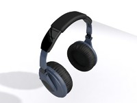 headphones earphone earbud 3d max