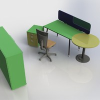 3d furniture office
