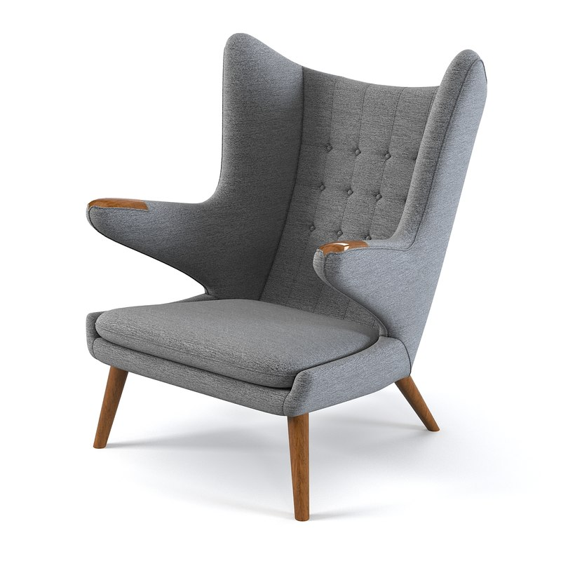 papa bear armchair  chair  hans j wegner designer designers famous lounge club relax vintage retro style modern contemporary tufted 28704 29540 .jpg