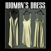 woman s dress obj