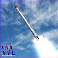3dsmax experimental rocket indonesian rx-250