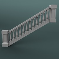 staircase balustrade 3d max