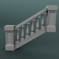 staircase balustrade 3d model