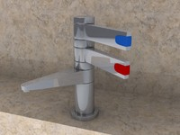 tap bathroom toilet 3d model