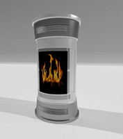 3d model of stove stufa