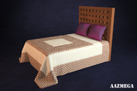 3d high-poly bed pillows 2 model