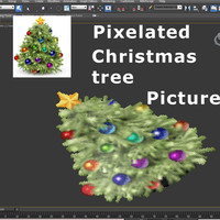Pixels Christmas Tree 01