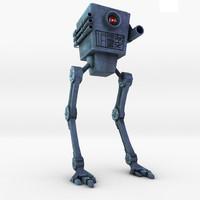 robot bot futuristic 3d model