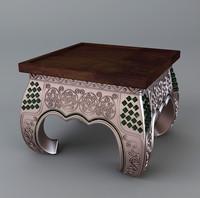 stool bronze 3d model