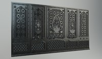 The cast-iron decorative panel
