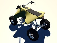 3d model yamaha yfz atv quad