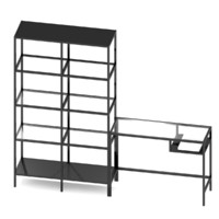 IKEA VITTSJO Shelving unit with laptop table set 2
