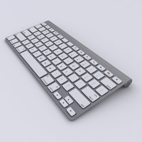3d apple wireless keyboard model