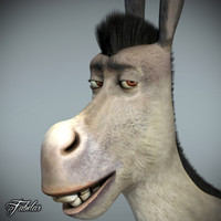 donkey photorealistic motion 3d model