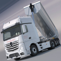 mercedes actros mp4 gigaspace 3d model