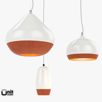 Terracotta Pendant 3 Lights set by Hand & Eye Studio