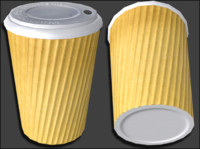 3d model of coffee cup ing