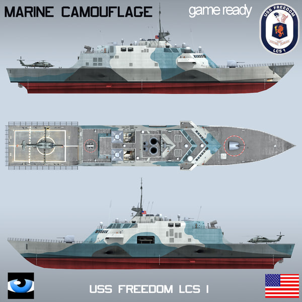 Uss freedom lcs 1 3d model - Uss freedom lcs 1 photos ...