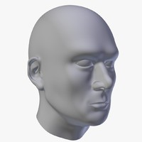free obj model polygonal human head