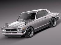 japan sport 1972 1968 3d model