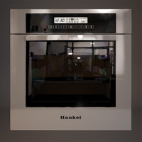 electric oven hankel 3d model