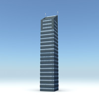 3d model of skyscraper 08 day night