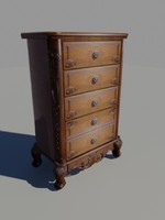 drawer nightstand 3d model