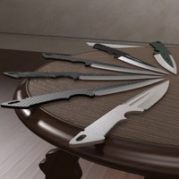 3d model throwing knife