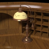 3d model antique desk lamp