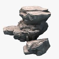 3d model stone set
