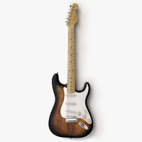 3d model stratocaster guitar