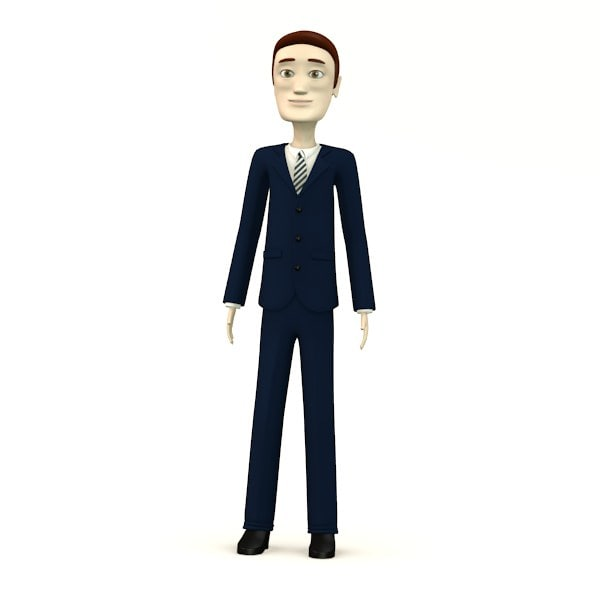 Cartoon Characters In Suits : Ds cartoon male suit