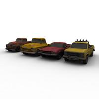 old american trucks 3d model