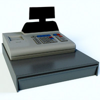 cash register 3d obj