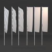 3d flag poles model