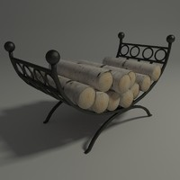 3ds max firewood holder